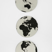 Globe Mirror - Set Of 3