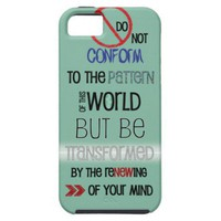 Christian iPhone 5 case: Do Not Be Conformed from Zazzle.com