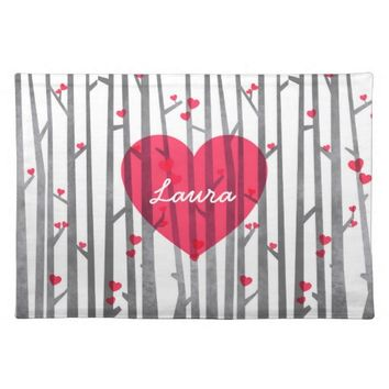 Custom Name Romantic Forest Dining Placemat