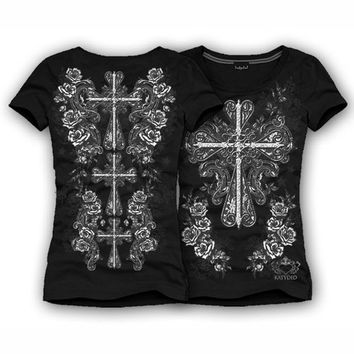 Katydid Heart Cross Women's T-Shirt