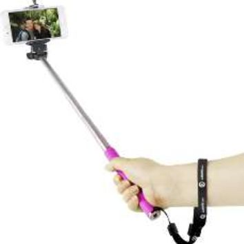 5IVE Selfie Stick Extendable Handheld Monopod Pole with Adjustable Phone Holder (Bluetooth Shutter +…