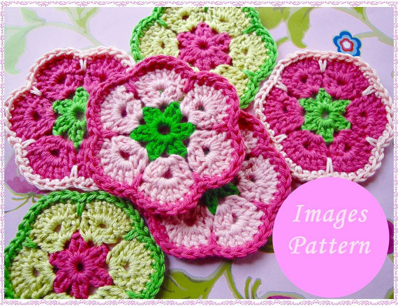Sweet African Flower Square Crochet from wonderfulhands on ...