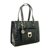 DKNY Gramercy Croco Leather Work Shopper