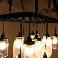 DIY Mason Jar Chandelier | Shelterness