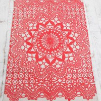 Retro To Go: Doily Rug from Urban Outfitters