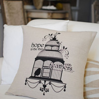 Dear Lillie — 'Hope Is' 18x18 Pillow Cover