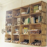 daisyhardcastle — Daisy Hardcastle childrens chair £30  vintage made  crates too 25.00 each them in Farrow and Ball P