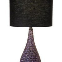 Kristy Lee Interiors  — Dimpled resin lamp - Purple