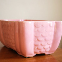 Blush Pink Vintage Planter by thePathLessTraveled on Etsy