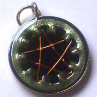 Steampunk Pentacle Resin Pendant
