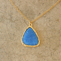Granted Wish Druzy Necklace [3299] - $18.00 : Vintage Inspired Clothing & Affordable Summer Dresses, deloom | Modern. Vintage. Crafted.