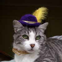 Pimp My Cat, Crochet Hat With Bling