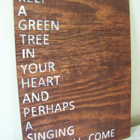 keep a green tree in your heart  version I by jennilyons81 on Etsy