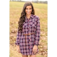 Worth The Wait Tunic-Red/Black