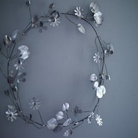 Wirework Flower Garland  NEW - NEW - Decorative Home