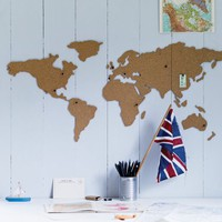 Corkboard World Map  NEW - NEW - Home Office