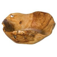 Amazon.com: Carved Wood Serving Bowl: Home &amp; Garden