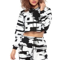 Fun and Abstract Cropped Sweater