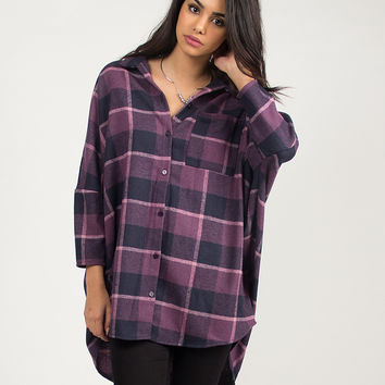 Oversized Flannel Shirt - Small
