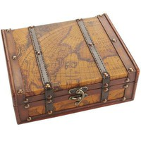 World Map Jewelry Box