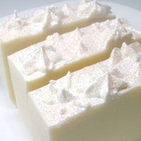 Soap Handmade Cold Process SNOWCAKES Lush Snow by beaconcreations