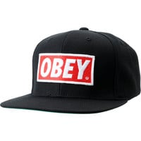 Obey Original Black Snapback Hat