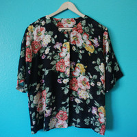 Vintage Early 90's Floral Print Blouse