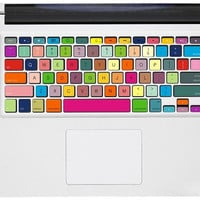 Rainbow -- Macbook Pro Keyboard Decal  Sticker Macbook Air Keyboard Decal Apple Mac Vinyl Decal Sticker Cover Skin