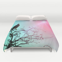 Hawk and the sun Duvet Cover by  Alexia Miles Photography