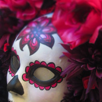 Sangria Mask for Day of the Dead/Halloween/Dia de los Muertos/Cosplay