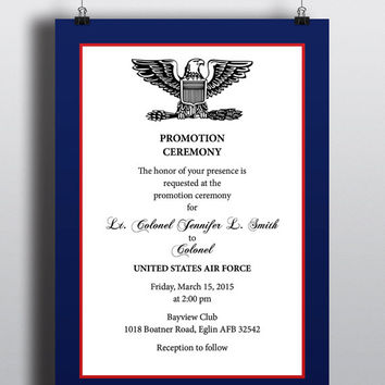 army promotion invitation template on powerpoint