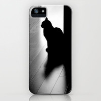 black cat iPhone Case by Marianna Tankelevich | Society6