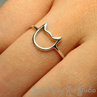 Cat Ring - Handmade - Sterling Silver 925