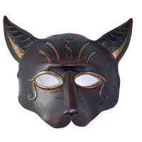 Custom Egyptian Cat Leather Mask