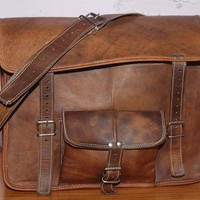 Pure Genuine 15 inches Handmade soft Camel Leather by PureGoods