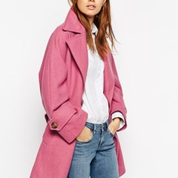 ASOS Oversized Peacoat With Military Detail