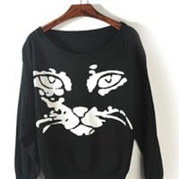 Tiger Print sweater$40.00
