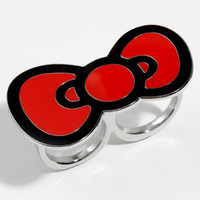 Hello Kitty Bow Ring | Two Finger Ring | fredflare.com