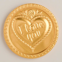 Steenland I Love You Chocolate Medallion, Set of 4