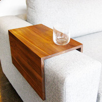 Couch Arm Wrap - SOLID WOOD arm rest table for couch/sofa