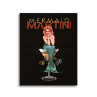 Martini Girls - Mermaid Wall Art - Bed Bath &amp; Beyond