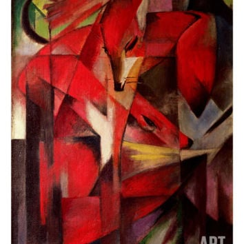 The Fox, 1913 Giclee Print by Franz Marc at Art.com