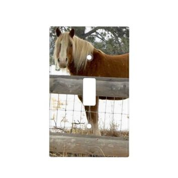 Horse Light Switch Cover