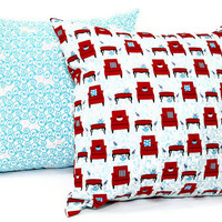 "Chairs Decorative pillow - Set of two 18x18"" pillow cover, Cushion cover, invisible zipper closer"