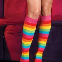 Sexy Adult Women Rainbow Leg Warmers By Leg Avenue,As Shown,One Size: Amazon.com: Clothing