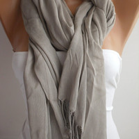 Gray Shawl/Scarf