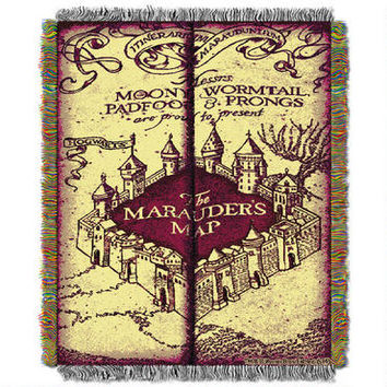 Harry Potter Marauderx27s Map Woven Tapestry Throw Blanket