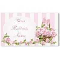 Gorgeous Pink Shabby Chic Vintage Business Card