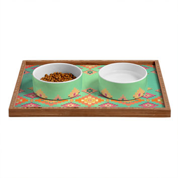 Monika Strigel Navajo Sunshine Pet Bowl and Tray