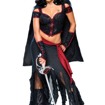 Sexy Zorro Costume - Adult Women s Zorro Halloween CostumesZorro Costume For Women